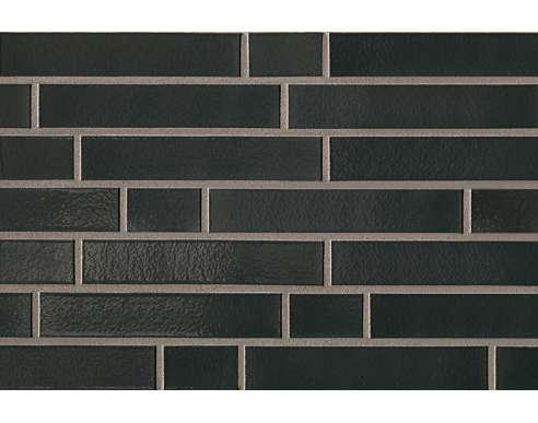 Клинкерная плитка для фасада 390 Tiefschwarz Langformat (365х52х10)