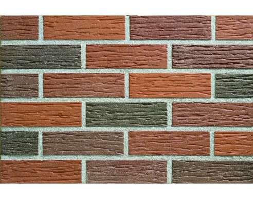 Фасадный клинкерный кирпич Emsland altfarben-bunt rustik-genarbt-besandelt (240х71x115)