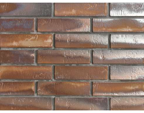 Клинкерная плитка для вентфасада Buxtehude dunkel Schieferstruktur (270x71x14)