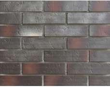 Клинкерная плитка для вентфасада и наклеивания Buxtehude dunkel Schieferstruktur (285x71x14)