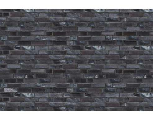 Фасадный клинкерный кирпич Hamburg schwarz-blau-bunt-geflammt Kohlebrand glatt (240х71x115)