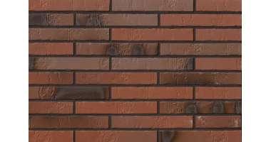 Клинкерная плитка для фасада Teuto Kohlebrand Schieferstruktur LF (490х52х10)