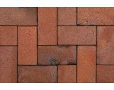 Клинкерная брусчатка Carbo (rot-bunt-Kohlebrand) 0815 (200x100x52)
