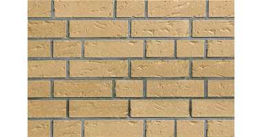 Фасадный клинкерный кирпич Rheinland creme-gelb baumrinde-genarbt-besandelt (240х71x115)