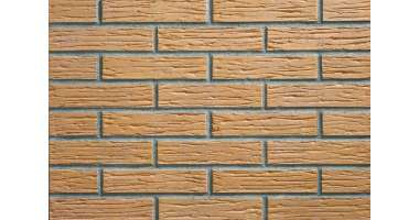 Фасадный клинкерный кирпич Rheinland creme-gelb rustik-genarbt-besandelt (240х52x115)