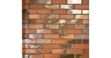 Фасадный клинкерный кирпич Norderney rot-bunt-schmolz glatt (240х71x115)