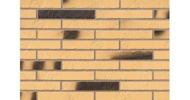 Клинкерная плитка для фасада Gelb Kohlebrand Schieferstruktur LF (365х52х10)