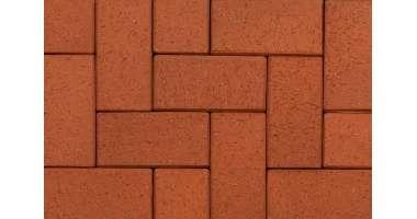 Клинкерная тротуарная брусчатка Rot-nuanciert 0901 (240x118x52)