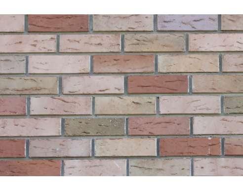Фасадный клинкерный кирпичGrafschafter Barock sandfarben-bunt wasserstrich (240х71x115)