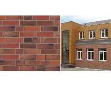 Фасадный клинкерный кирпич Flensburg rot-Kohlebrand glatt (240x71x55)