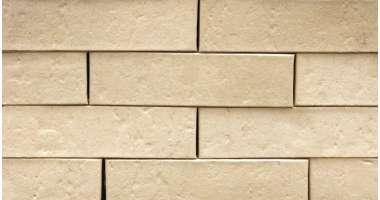 Фасадный клинкерный кирпич Creme-weiss mit eierschalenweisser Engobe genarbt (250x65х90)
