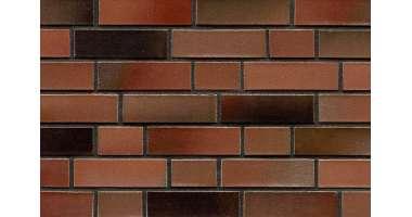 Фасадный клинкерный кирпич Brinkum rot-schwarz-eisen-bunt glatt (240х71x115)