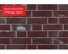 Фасадный клинкерный кирпич Leipzig aubergine kohlebrand Superspar glatt (240х71x55)