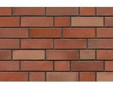 Фасадный клинкерный кирпич Schwerin rot-bunt glatt (240х52x115)