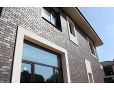 Фасадный клинкерный кирпич Trier anthrazit-braun-bunt geflammt glatt (240х71x115)